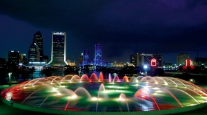 Downtown Jacksonville skyline, view from Friendship Fountain